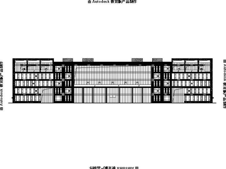 [江苏]多层框架结构对称布局研发办公楼建筑施工图(16年)