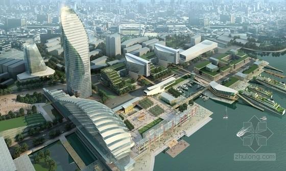[上海]滨水现代风格超高层城市综合体建筑设计方案文本