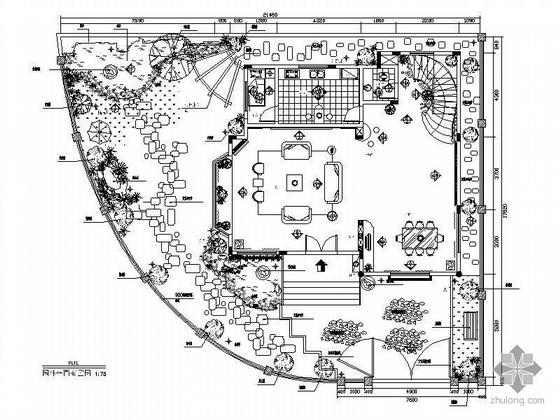 四层现代花园别墅设计装修图