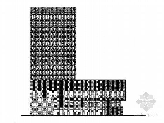 [湖南]高层框架剪力墙结构五星级酒店建筑施工图(含内装图)
