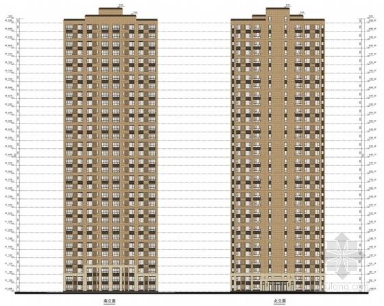 可持续发展住宅区立面图