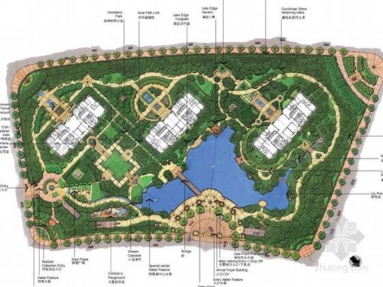 [大连]现代高层公寓生态住宅景观概念设计方案