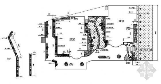 晋江别墅屋顶绿化平面图