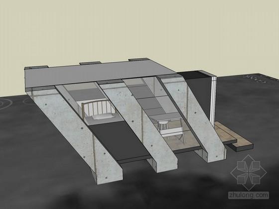 密斯凡德罗住宅sketchup模型