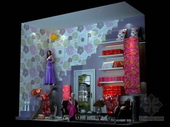 家纺用品橱窗陈列3d模型下载