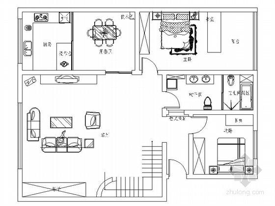 复式现代室内装修图