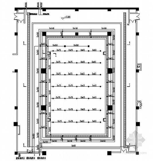 [陕西]某地下一层会所室内游泳池循环水系统设计图纸
