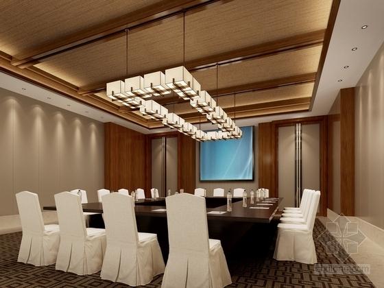 某现代中式五星级酒店会议室设计方案效果图