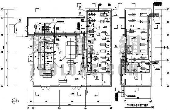 陕西某医院燃煤锅炉房工艺施工全套图
