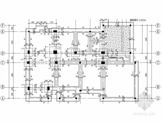 俄罗斯两层砖混结构别墅施工图(含PKPM模型)