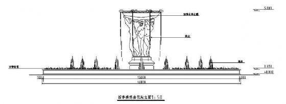 某小区雕塑花坛施工图-2