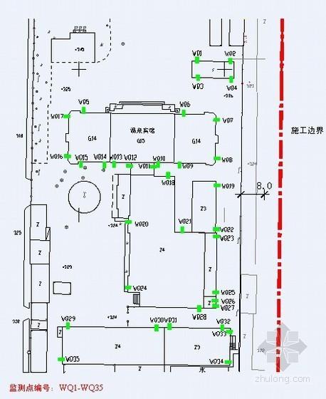 [天津]医院深基坑开挖支护监测施工方案(地下连续墙)