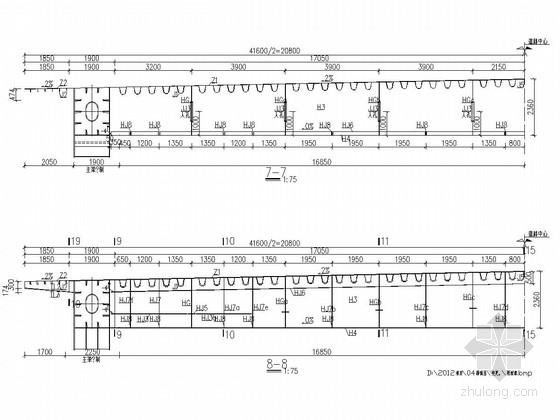 特大型下承式钢结构系杆拱桥桥面系施工图(141张)