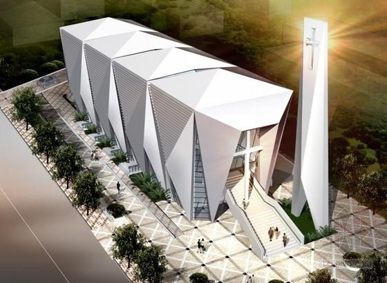 [南京]某三层教堂建筑方案文本(含施工图)
