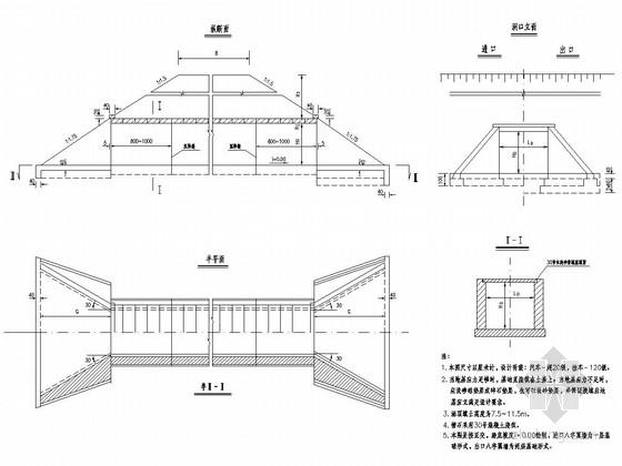 装配式钢筋砼盖板涵通用设计图(45张)