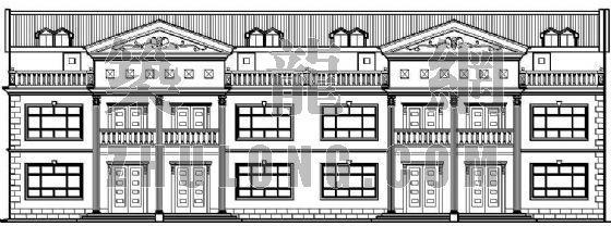 某联体别墅的平立面设计方案