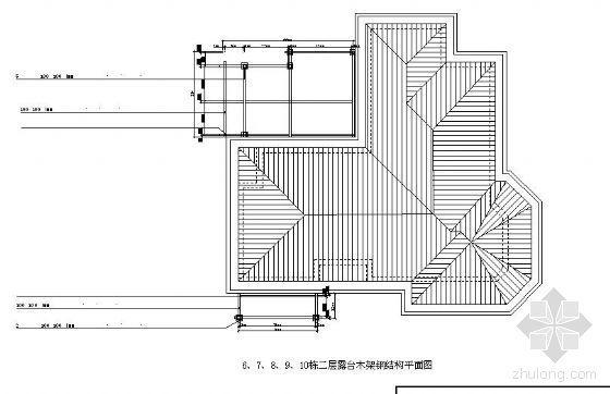 某温泉度假区露台及钢结构施工图