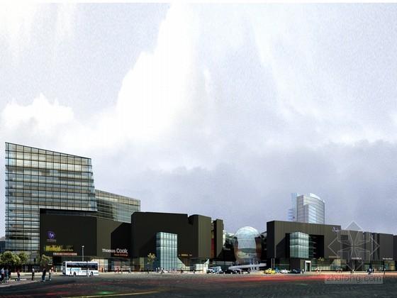 商业广场建筑街道PSD分层素材下载