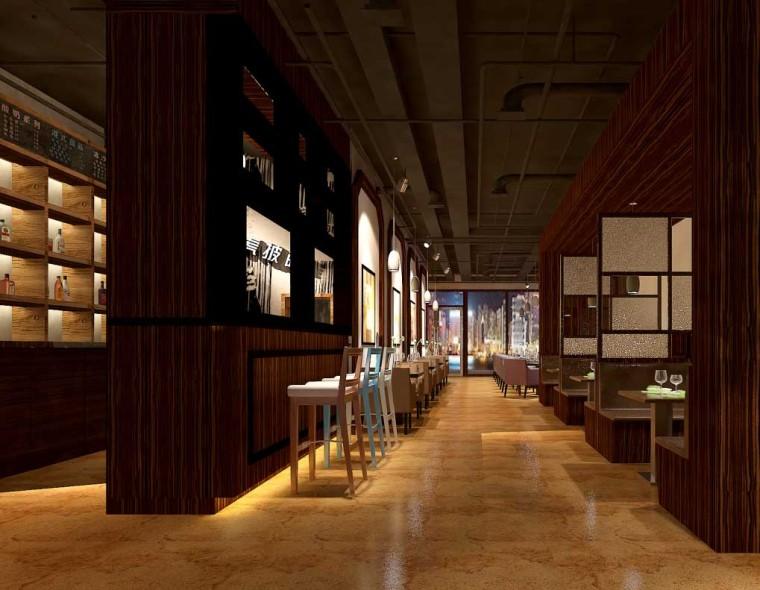 复古西餐厅成套3D模型下载(附效果图)