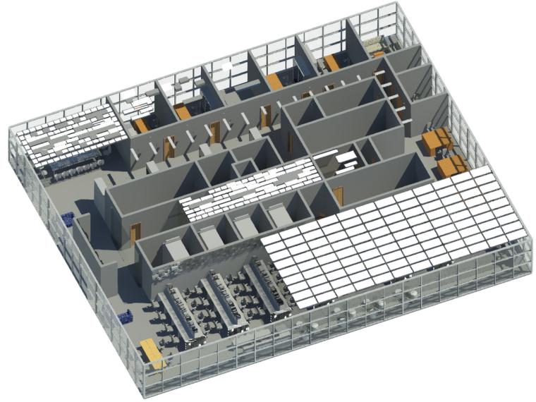 BIM模型-revit模型-办公空间模型
