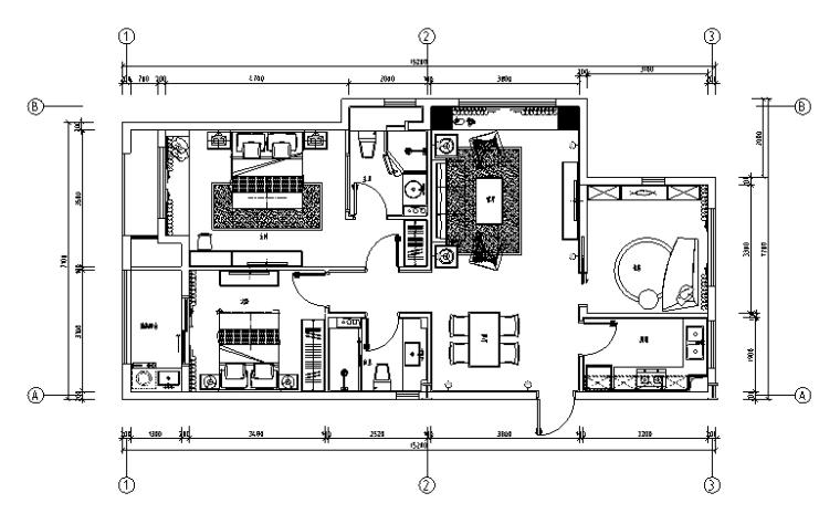【浙江】2套混合风格新城样板间设计(附效果图+材料表)_1
