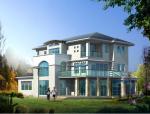 3层现代别墅图纸带效果图