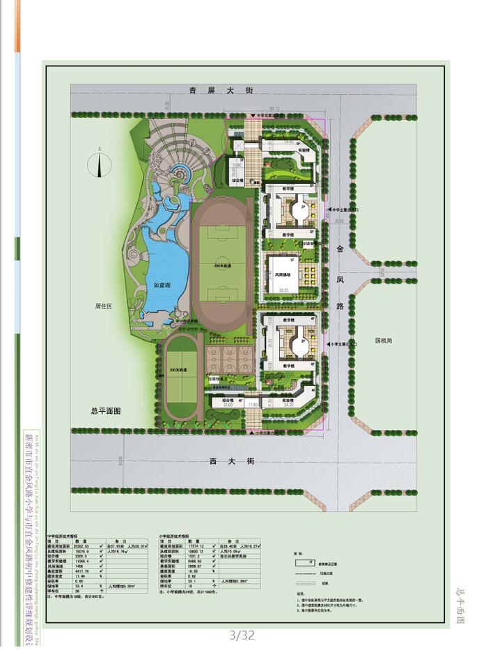 [河南]现代中小学规划及单体建筑设计方案文本_8