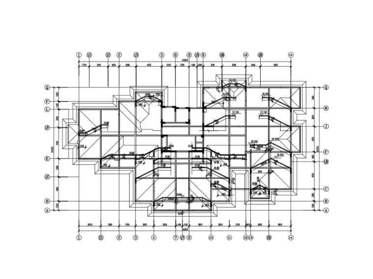 坡屋面结构图画法