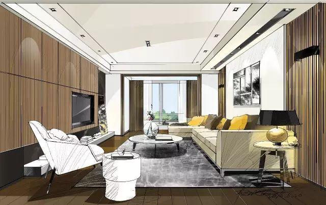 室内手绘 室内设计手绘马克笔上色快题分析图解_2