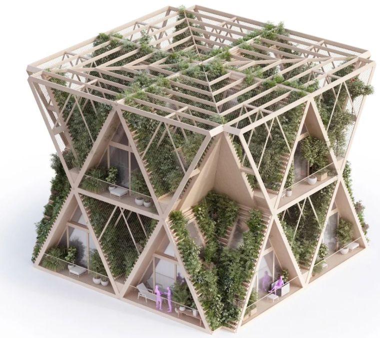 拥有独立生态系统的大楼-城市中的垂直农场_17