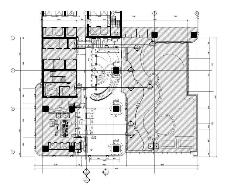 越南时代广场豪华酒店全日制餐厅室内设计施工图+效果图