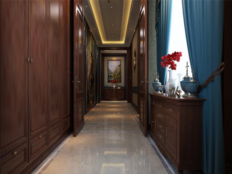 内蒙古独栋别墅一层门厅-内蒙古·乌兰浩特独栋别墅设计效果图第1张图片