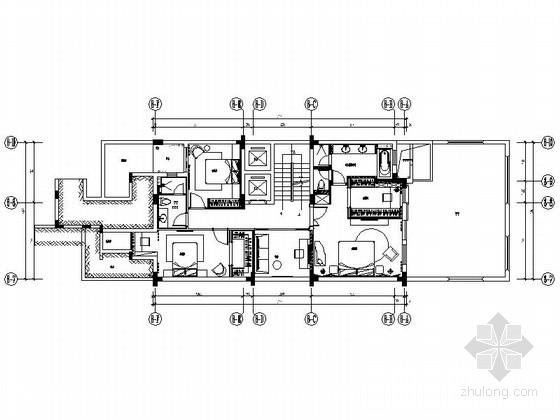 [深圳]名师设计时尚双层叠加别墅样板房装修施工图(含实景)