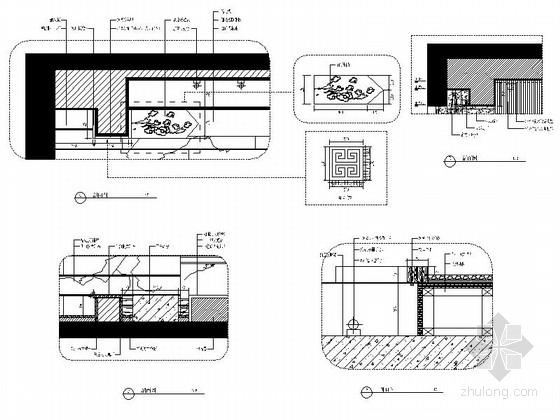 [福建]国际豪华欧式音乐会所设计施工图(含效果)茶室大样图
