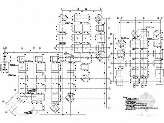 六层框架结构喜盈门小学结构施工图(含阶梯教室)