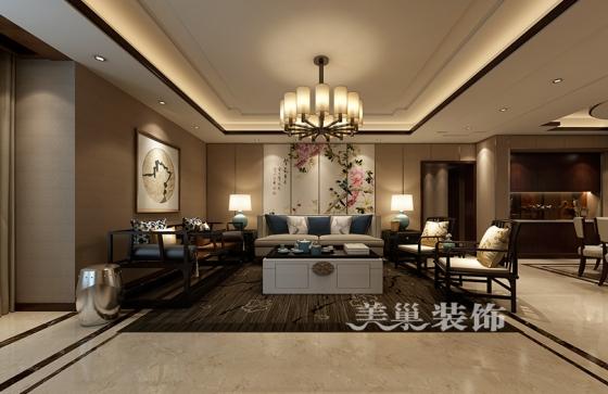 平面布局?-瀚海晴宇233平5室2厅新中式风格装修设计案例