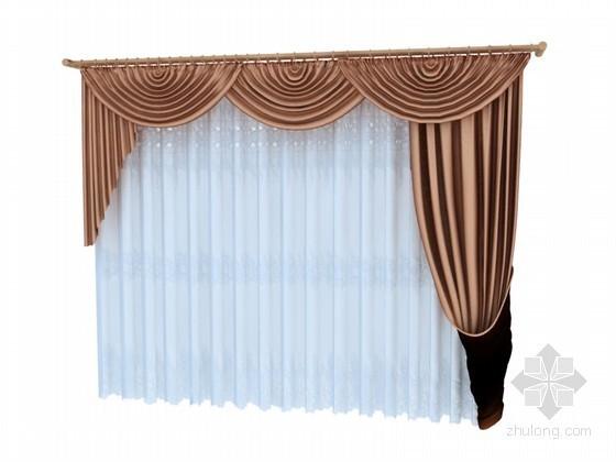 时尚漂亮窗帘3D模型下载
