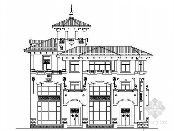 [新农村]三层双拼简欧风格别墅建筑施工图(知名设计院)