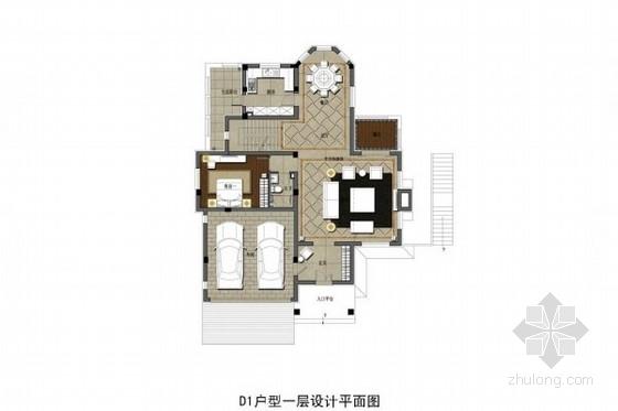 [沈阳]新中式风格双层别墅深化设计方案