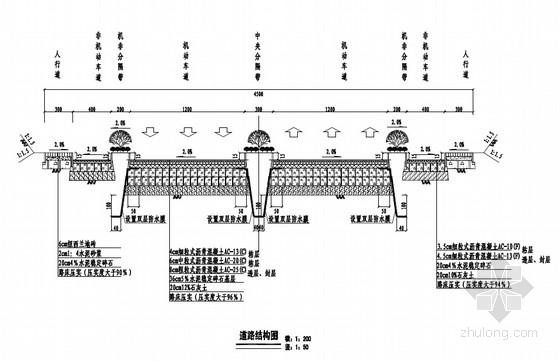 城市一级主干路工程全套施工图(75张 道路 交通工程 排水)