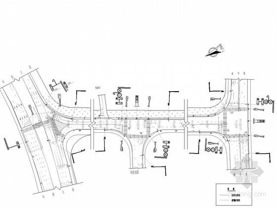 [湖南]市政道路交通安全设施施工图44张(标志信号灯电子警察)