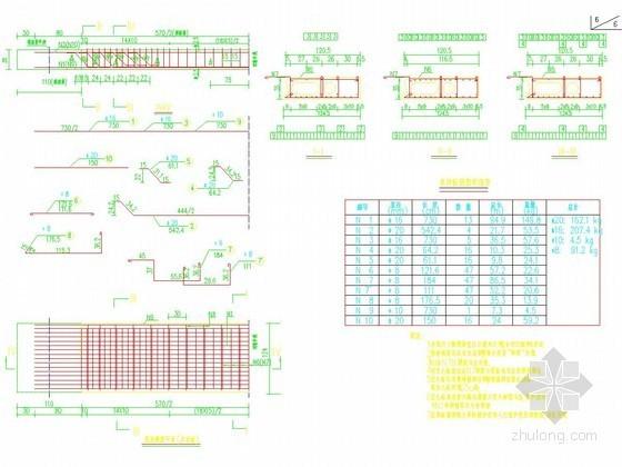钢管砼拱桥主桥桥面板普通钢筋构造图