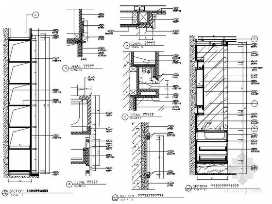 [深圳]现代时尚顶层叠加别墅样板房装修节点图