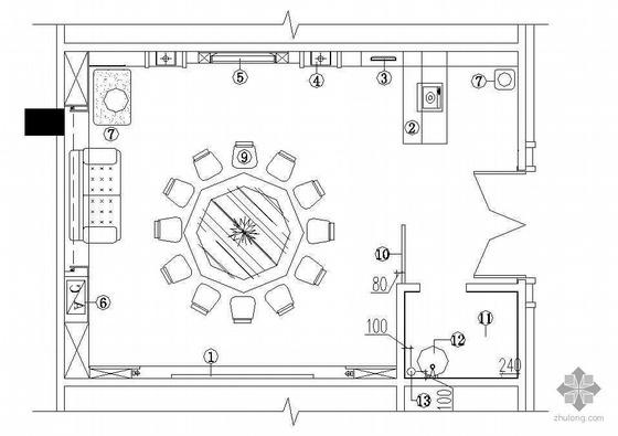 某餐厅包间装修施工图