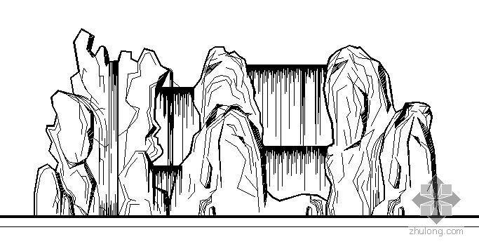 某小区瀑布假山施工图