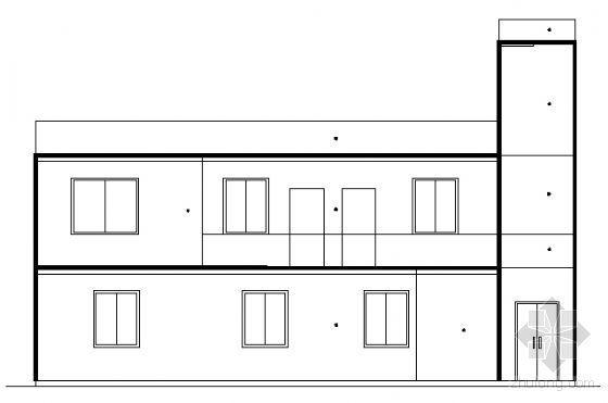 [长沙市开福区]某二层小型危房改建民居建筑方案图