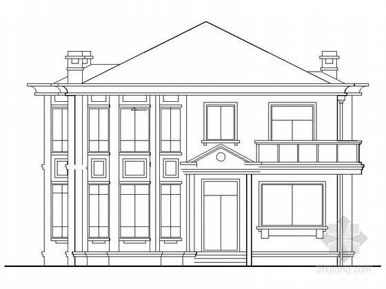某二层简欧别墅建筑扩初图