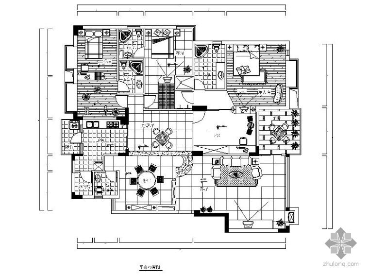 简洁四居室装修设计图