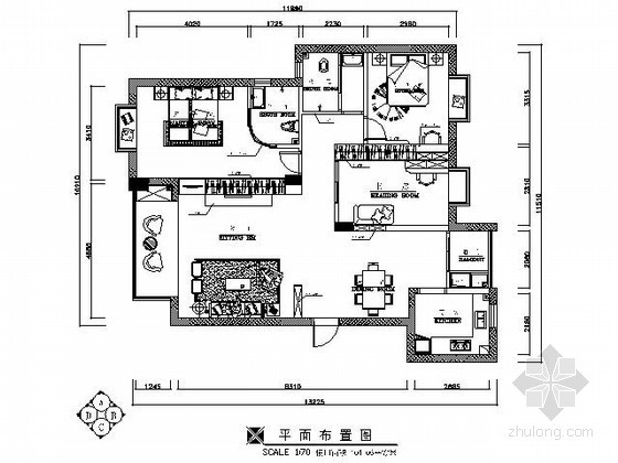 100平米现代三室两厅装修图(含效果)