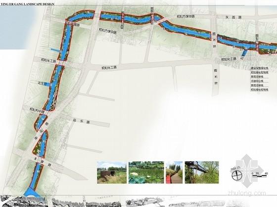 [杭州]河道整治工程深入景观方案设计(附CAD总平图及绿化设计施工图)